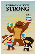 Reading makes you Strong Poster